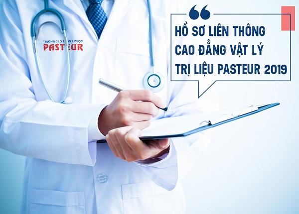 Hồ sơ Liên thông Cao đẳng Vật lý trị liệu Pasteur TP.HCM năm 2019