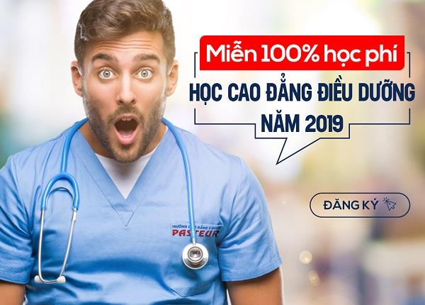 Cơ hội miễn 100% học phí Cao đẳng Điều dưỡng TPHCM 2019