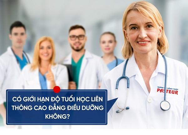 Giới hạn độ tuổi học Liên thông Cao đẳng Điều dưỡng Pasteur TPHCM