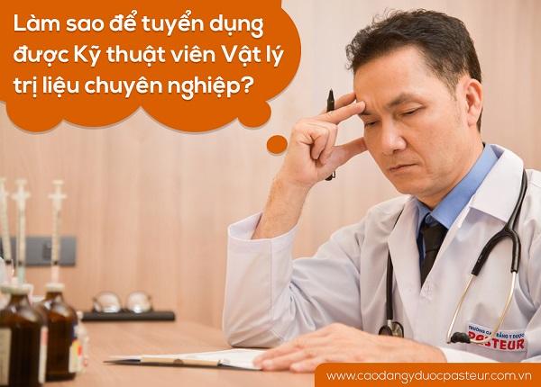 Kỹ thuật viên Vật lý trị liệu ở các cơ sở Y tế đang thiếu hụt trầm trọng