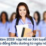 Cao đẳng Điều dưỡng 2019 bắt đầu xét tuyển từ ngày nào?