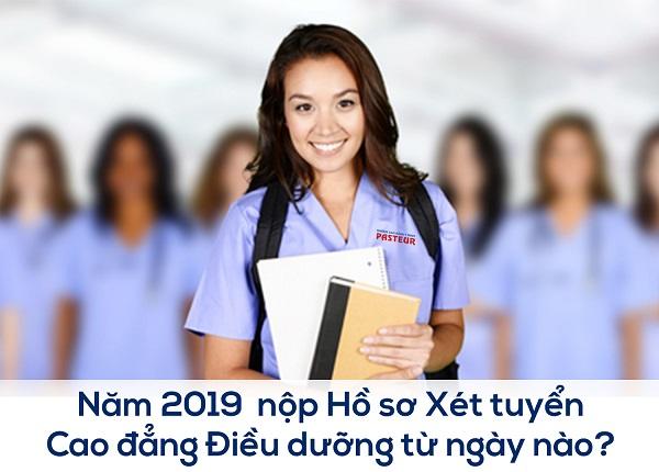 Nộp hồ sơ xét tuyển Cao đẳng Điều dưỡng năm 2019 từ thời điểm nào?