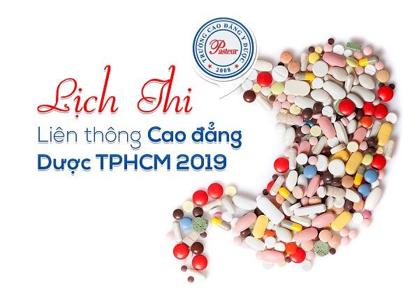 Lịch thi Liên thông Cao đẳng Dược TPHCM năm 2019