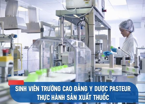 Sinh viên Cao đẳng Dược TPHCM được tực hành tại Nhà máy sản xuất thuốc
