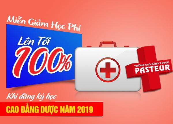 Miễn giảm 100% học phí chuyên ngành Dược năm 2019