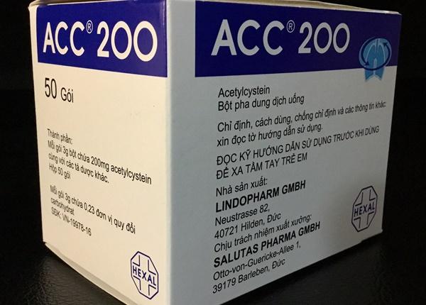 Thuốc acc 200® - công dụng và liều dùng