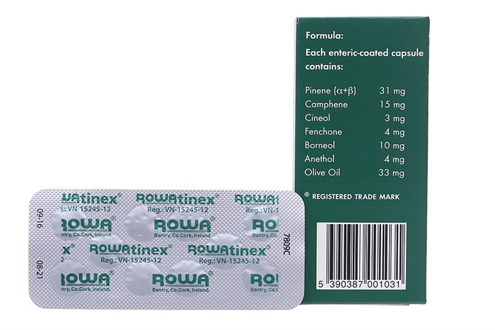 Mặt sau của thuốc Rowatinex