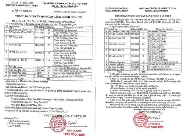 Nhieu Truong Cd Su Pham Khong Tuyen Duoc Ts Va Truoc Nguy Co Tan Ra