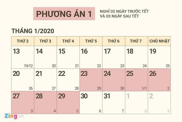 Lich Nghi Tet Nguyen Dan Nam 2020 Cho Hoc Sinh Sinh Vien