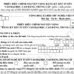 Cách điều chỉnh NV đăng ký xét tuyển ĐH bằng phiếu